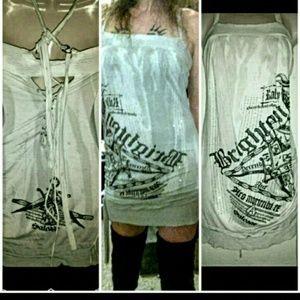 Salvage brand corset tunic dress